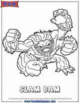 Coloring Pages Skylanders Bam Slam Skylander Header3 Fancy Detailed Check Adventure Hmcoloringpages Colouring sketch template