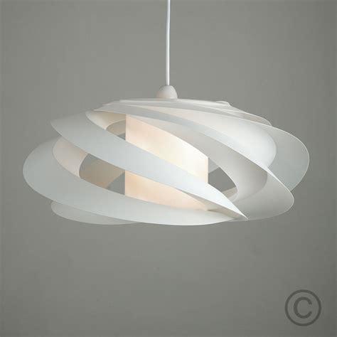 modern designer style white spiral ceiling pendant light