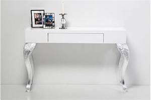 Console Meuble Ikea : console bureau design blanc ~ Voncanada.com Idées de Décoration