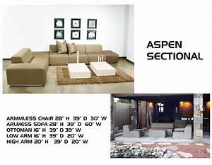 Living room bernhardt aspen sectional leather sofa with for Aspen sectional sofa with ottoman