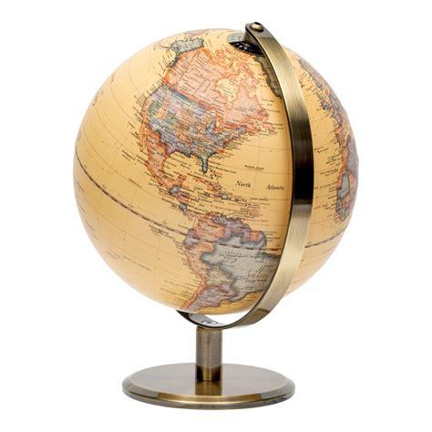 embossed antique ocean globe cm