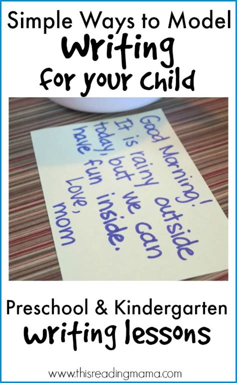 How To Model Writing  Preschool And Kindergarten Writing Lessons {week 1}  The Measured Mom