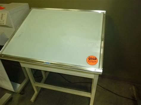 drafting table with lightbox drafting table with light box used light table box