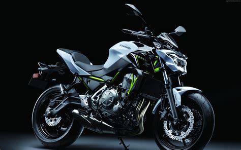 Kawasaki 650 Backgrounds by Motorcycle Kawasaki Z650 2017 On A Black Background