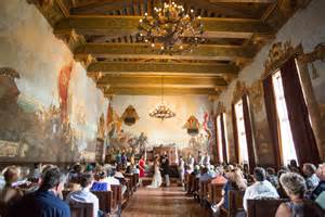 santa barbara courthouse mural room wedding karen d