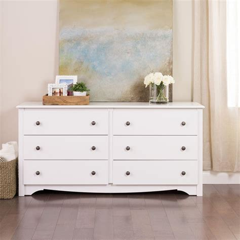 white drawer dresser prepac monterey 6 drawer white dresser wdc 6330 k the