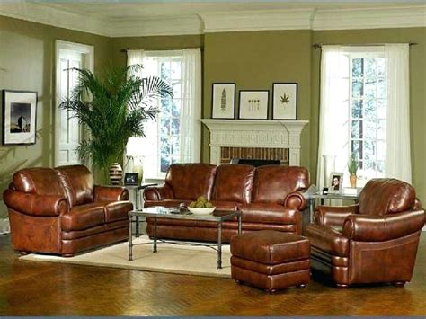 wall colors for brown leather furniture best living room