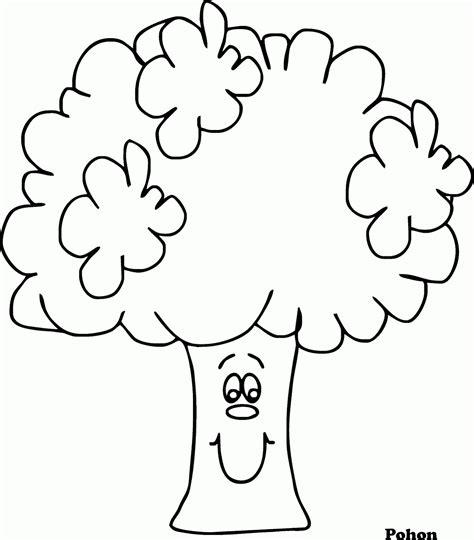 mewarnai gambar pohon versi kartun