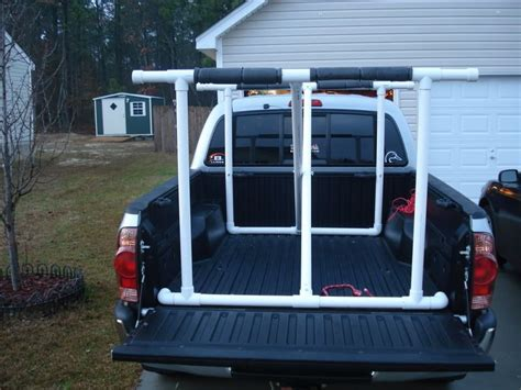how to build a kayak rack for truck cheap or diy kayak rack help need to get a 13ft yak in a