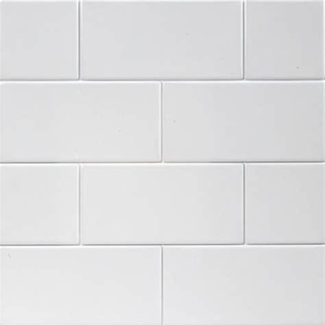 white matte large subway tile transitional tile