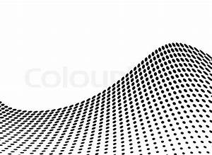 Wave abstract design in stark black and white with copy ...