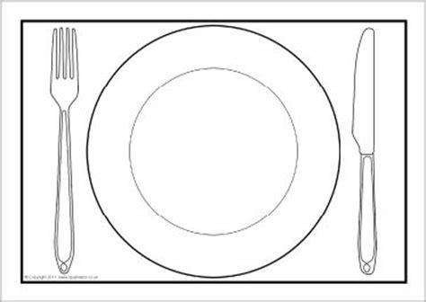placemat template bord met bestek kleurplaat zoeken knutselen restaurants dramatic play