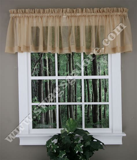 White Sheer Kitchen Curtains by Elegance Sheer Valance White Stylemaster Kitchen Valances