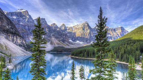 Moraine Lake Alberta Canada 4k Hd Wallpapers Hd