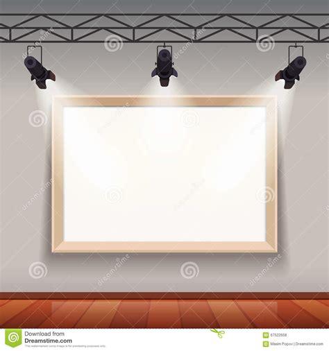 dans le cadre de cadre de tableau vide dans le de pi 232 ce de mus 233 e d arts illustration de vecteur image