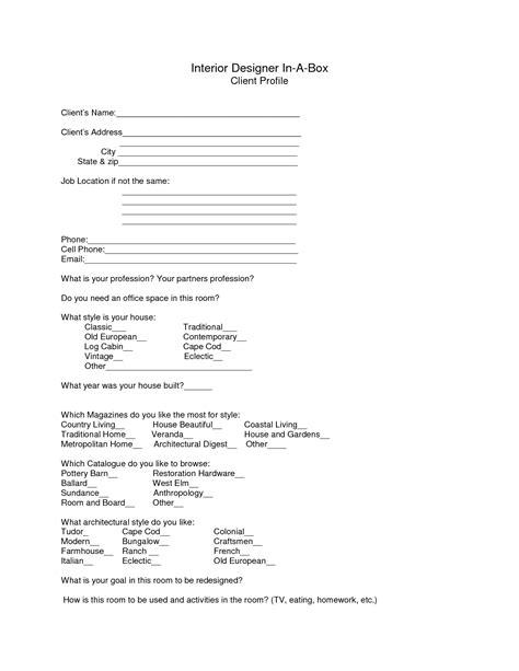 design client profile template images interior design