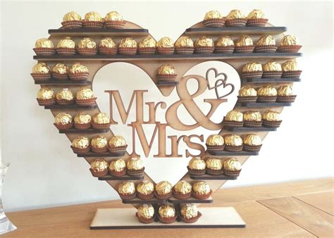 diy ferrero rocher tree ferrero rocher tree with removable quot mr mrs quot holds 59 or 118 you choose ebay