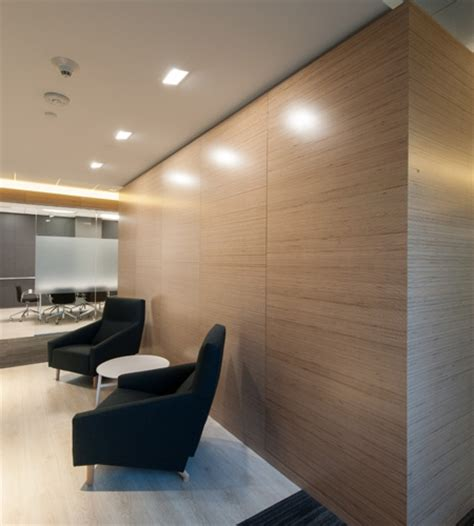 wall panelling designs modern office interior with birch plywood Office