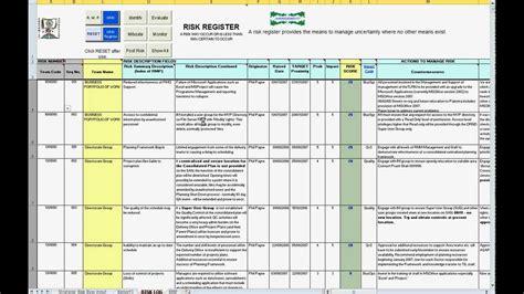 Risk Register Template Pin Risk Register Template On