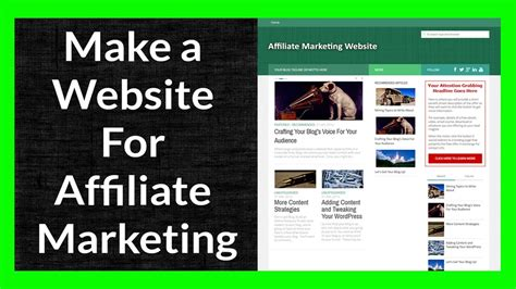 E Marketing Websites - make a website for affiliate marketing part 6 of 11