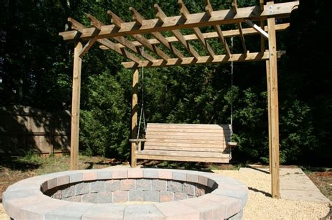 pit with swings pit swing sets the owner builder network