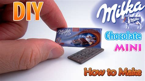 Diy Miniature Milka Chocolate Bar  Dollhouse  No Polymer