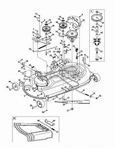 Cub Cadet Parts On The Mower Deck Diagram For Ltx 1040