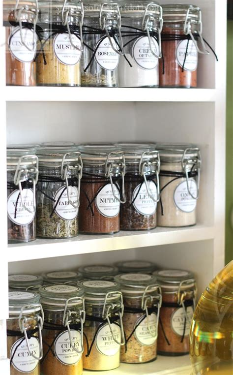 kitchen storage labels 30 best spice jar labels and templates images on 3160