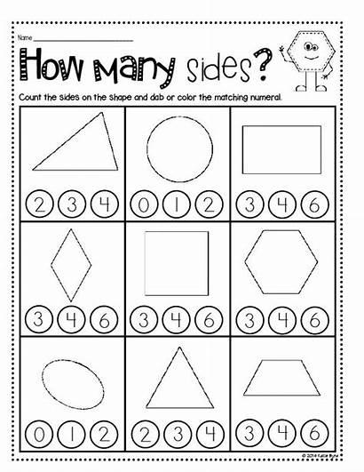 Shapes Kindergarten Homework Worksheets Geometry Math Prep