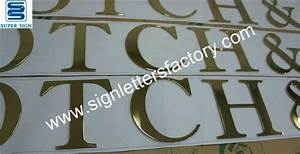 polished brass letters With flat cut letters