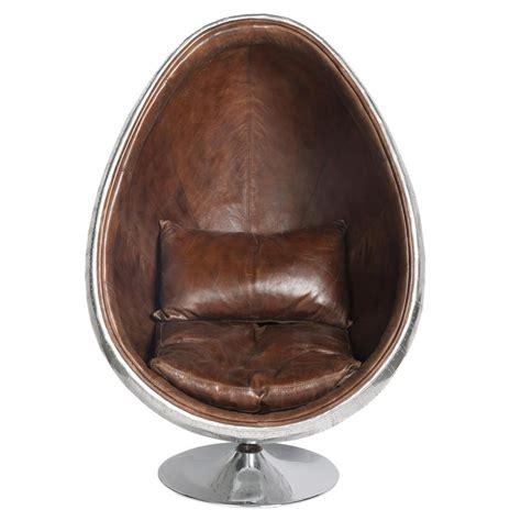 fauteuil en cuir marron coquille maisons du monde