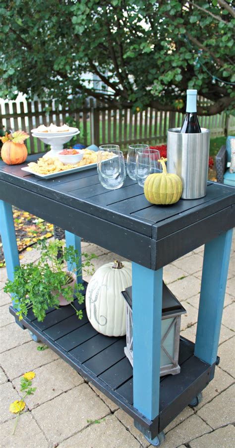 diy rolling bar cart mom  real