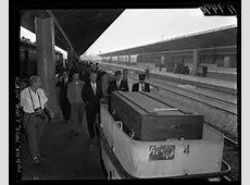 Coffin of Errol Flynn at the LA Train Station