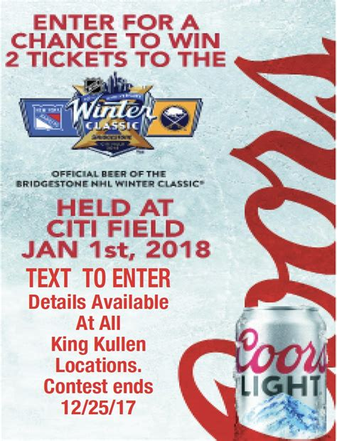 Win 2 Tickets to the NHL Winter Classic at Citi Field ...