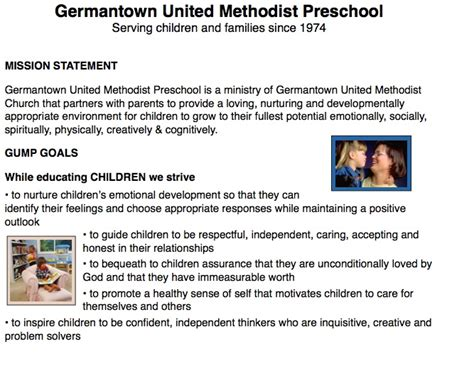 germantown united methodist preschool 901 753 3109 520 | GUMP%20mission%20statement%202%20pages