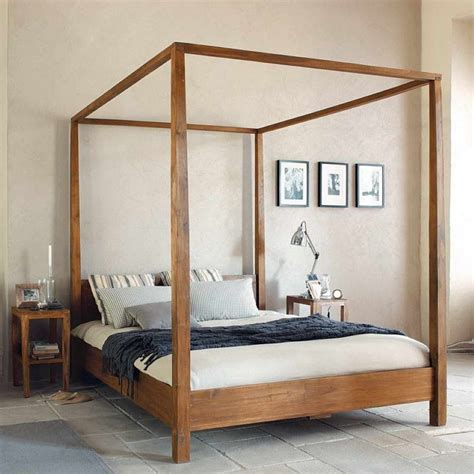 pin  eli gutierrez  bedroom wood canopy bed canopy