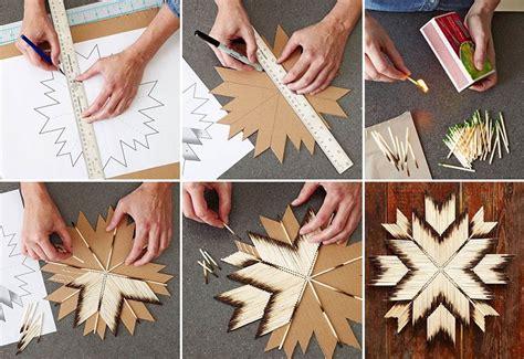 diy easy craft cardboard  burnt matches home design