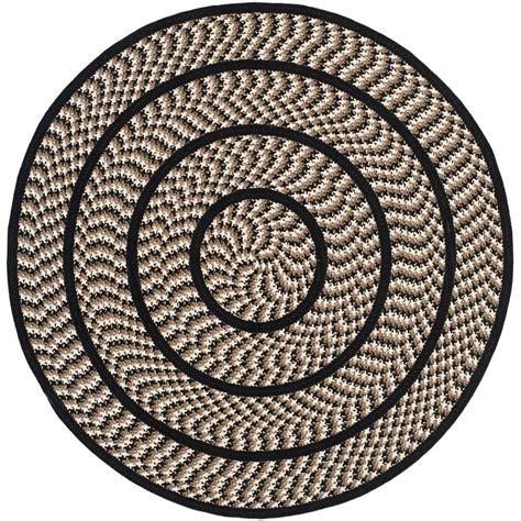 4 ft area rugs safavieh braided ivory black 4 ft x 4 ft area rug