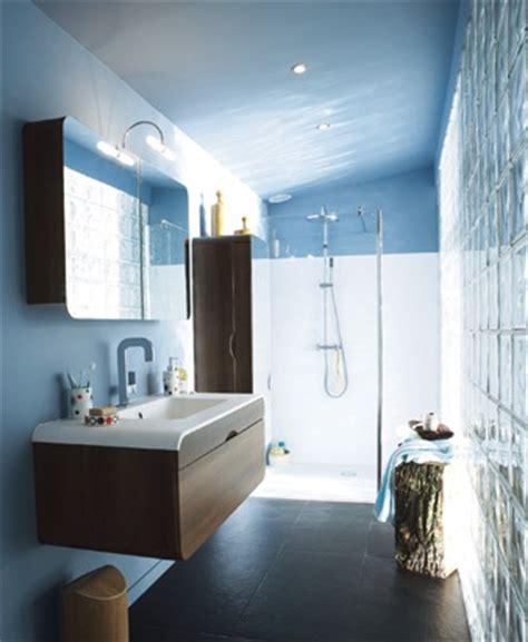 d馗oration cuisine et salle de bain décoration salle de bain bleu et marron
