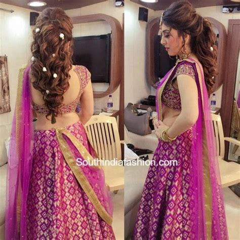 hansika    saree south india fashion