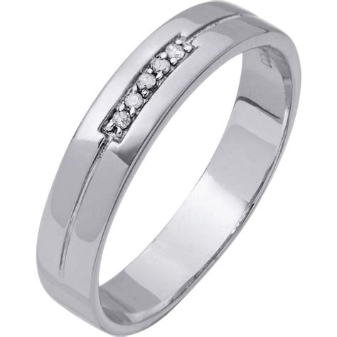 buy 9ct white gold diamond i love you wedding ring 4mm at argos co uk your online shop