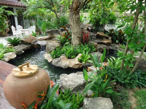 Tropical Thailand Waterfall Garden  Exotique Jardin