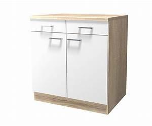 Küchen Unterschrank 40 Cm Breit : k chen unterschrank rom 2 t rig 80 cm breit wei k che k chen unterschr nke ~ Indierocktalk.com Haus und Dekorationen