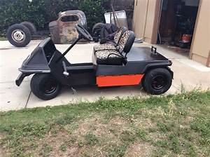 Vintage 70s Harley Davidson Electric Golf Cart