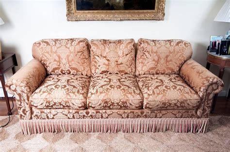 chocolate brown sofas for sale chocolate brown silk damask sofa for sale at 1stdibs