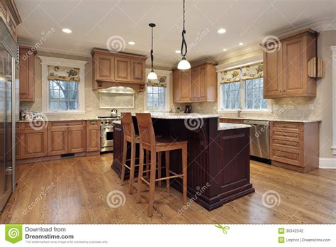kitchen lighting fixtures island kitchen with decker island stock photography