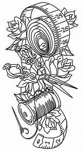 Sewing Patterns Embroidery Paper Tattoo Cross Urbanthreads Machine sketch template