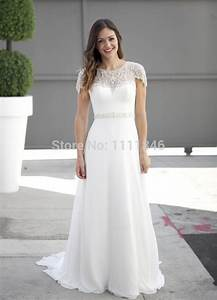 2015 latest chiffon beach wedding dress plus size capped With plus size beaded wedding dresses
