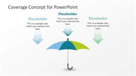 umbrella template powerpoint diagram slidemodel