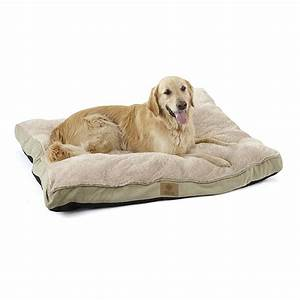American kennel clubr deluxe fur suede like pet bed for Dog bed for kennel
